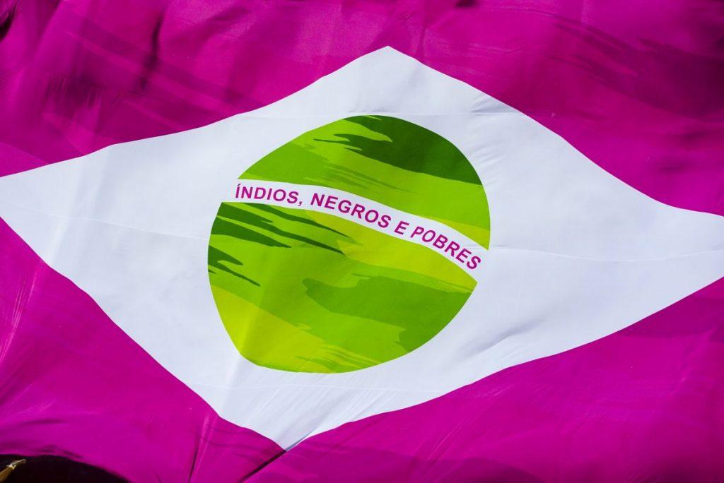 Bandeira do Brasil da Mangueira. Foto: Fernando Grilli | Riotur